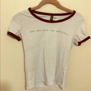 Women's white  small T-shirt